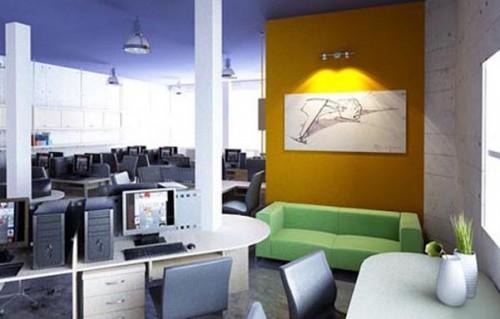 Bàn ghế văn phòng được sắp xếp ngay ngắn