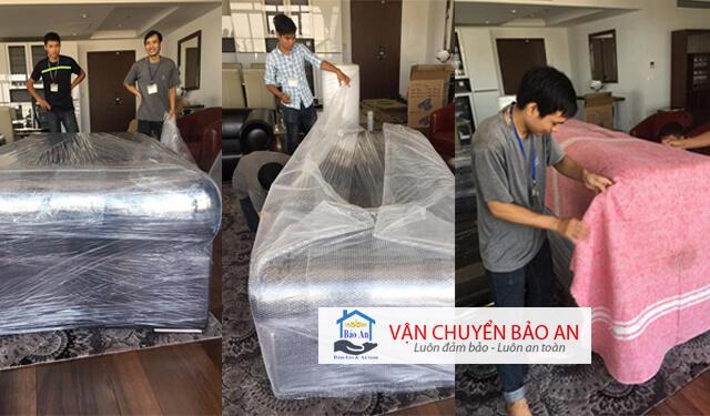 quy trình bọc lót đóng gói trước khi vận chuyển