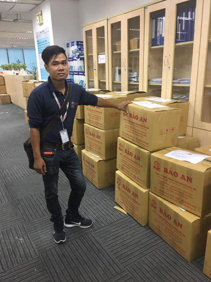 Hình ảnh nhân viên chuyển văn phòng trọn gói của Bảo An