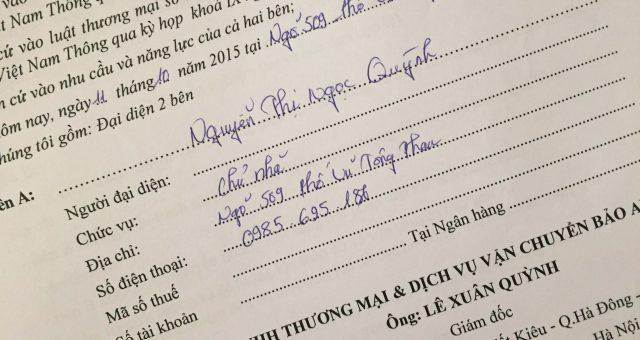 Khách hàng Nguyễn Thị Ngọc Quỳnh tại Thanh Xuân, Hà Nội