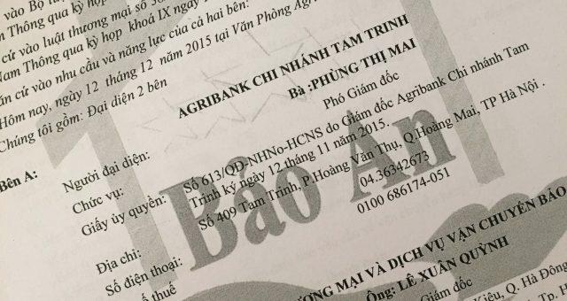 Khách hàng Agribank chi nhánh Tam Trinh, Hà Nội