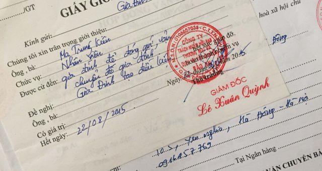 Khách hàng Vũ Trung Thủy tại Hà Đông, Hà Nội
