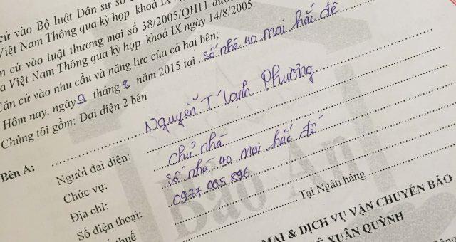 Khách hàng Nguyễn Mạnh Phương tại Hai Bà Trưng, Hà Nội