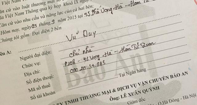 Khách hàng Vũ Duy tại Hàm Tử Quan Hoàn Kiếm, Hà Nội