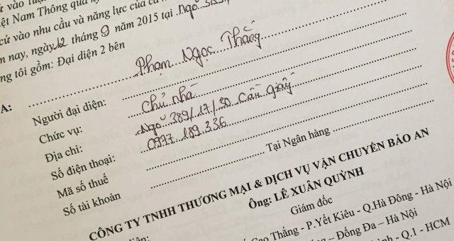 Khách hàng Phạm Ngọc Thắng tại Cầu Giấy, Hà Nội