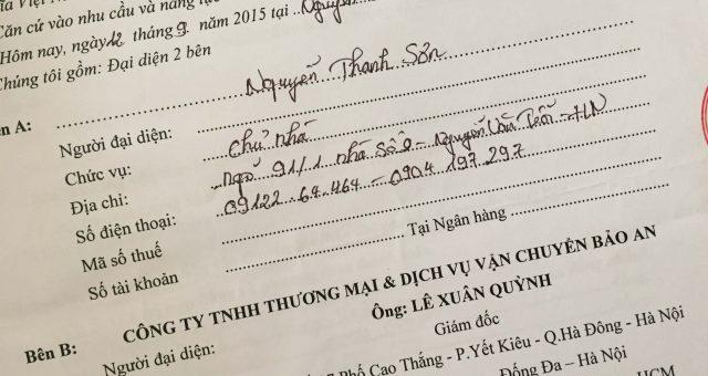 Khách hàng Nguyễn Thanh Sơn tại Thanh Xuân, Hà Nội