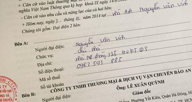 Khách hàng Nguyễn Văn Vinh tại TT HVKTQS Xuân Đỉnh, Hà Nội