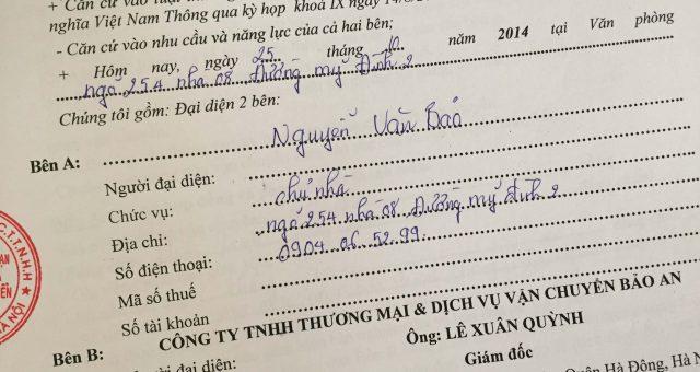 Khách hàng Nguyễn Văn Bảo tại Nam Từ Liêm, Hà Nội