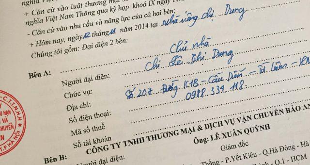 Khách hàng Lê Thị Dung tại Cầu Diễn, Bắc Từ Liêm, Hà Nội