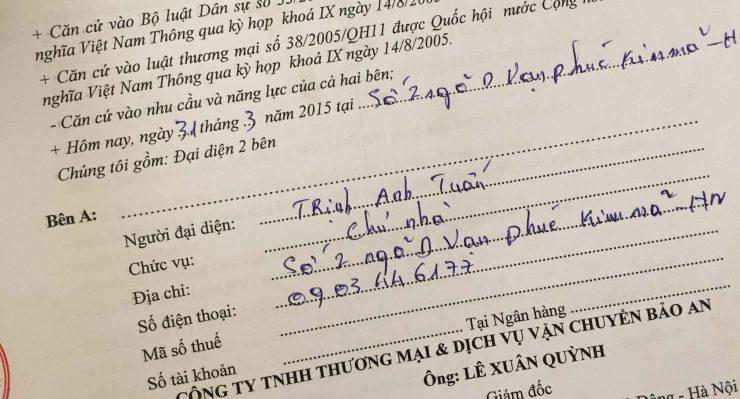 Khách hàng Trịnh Anh Tuấn tại Kim Mã, Hà Nội