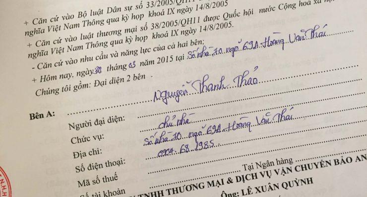 Khách hàng Nguyễn Thanh Thảo tại Hoàng Văn Thái, Thanh Xuân, Hà Nội